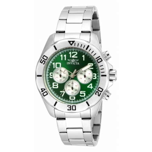 INVICTA Pro Diver Men 45mm Stainless Steel Stainless Steel Green dial VD54 Quartz