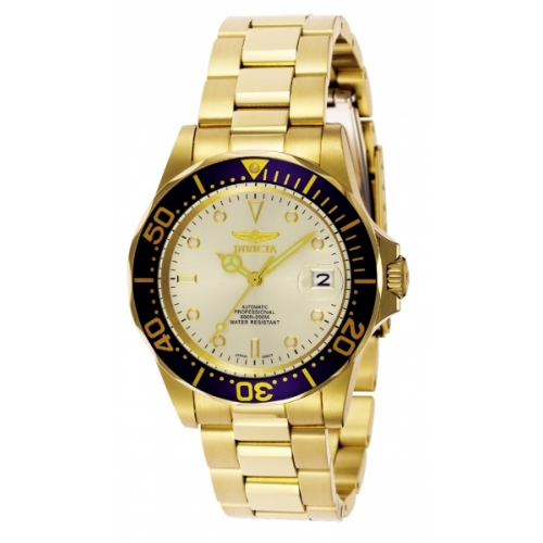INVICTA Pro Diver Men 40mm Stainless Steel Gold Champagne dial NH35A Automatic