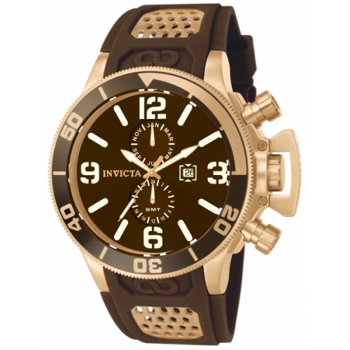 INVICTA Corduba Men 53mm Stainless Steel Rose Gold Brown dial 9232/1930 Quartz