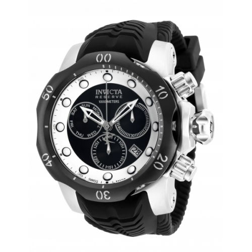 INVICTA Venom Men 53.7mm Stainless Steel Stainless Steel + Black Black+White dial Z60 Quartz