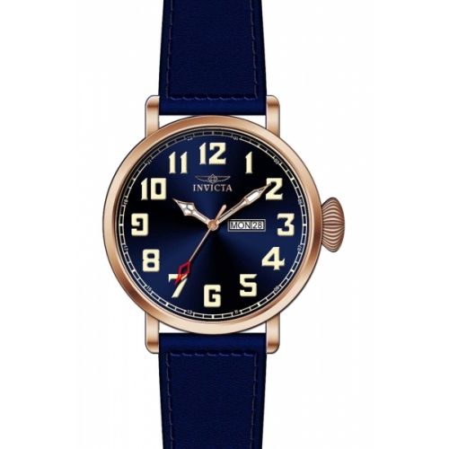 INVICTA Vintage Men 45mm Stainless Steel Rose Gold Navy Blue dial PC33 Quartz