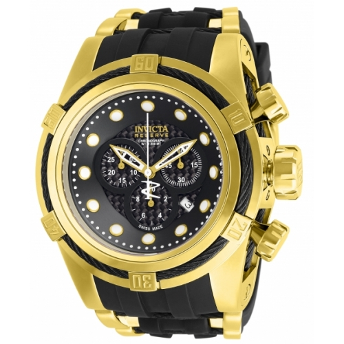 INVICTA Bolt Men 53mm Stainless Steel Gold + Black Black dial 5040.D Quartz