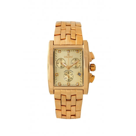 Rodez Gold Dress Watch with Gold Diamond Dial