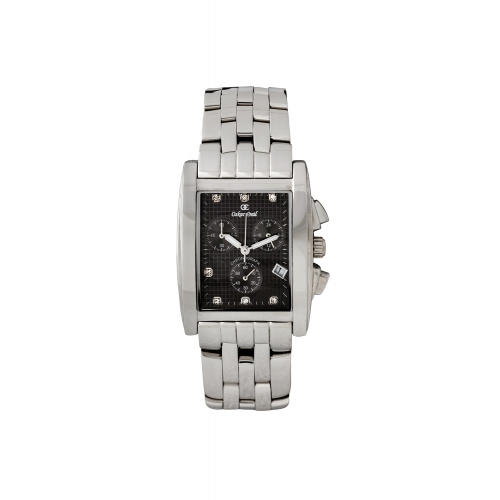 Rodez Stainless Steel Dress Watch with Grey Diamond Dial