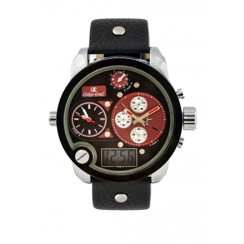 Spiral - Black with red dials