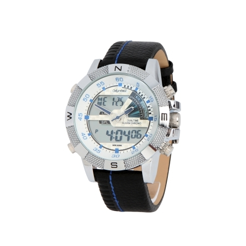 Ranger - Stainless steel with leather strap and blue hands