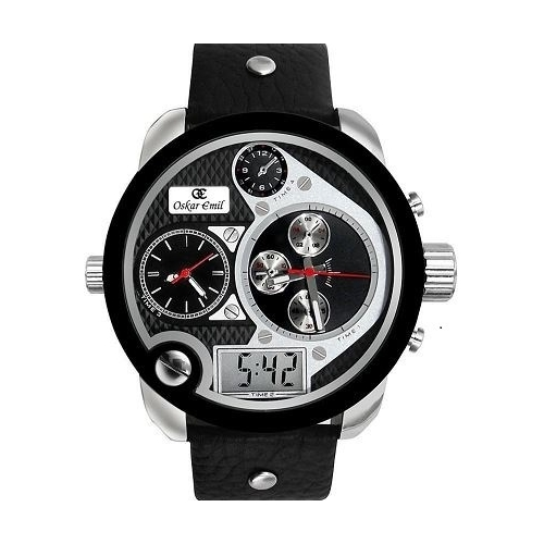 Spiral - Black with white dials