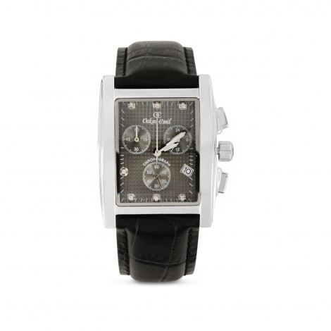 Rodez Dress Watch With Grey Dial Chronograph Display