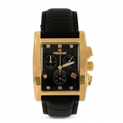 RODEZ DRESS WATCH WITH BLACK DIAL CHRONOGRAPH DISPLAY